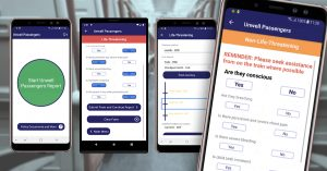 Unwell Passengers App